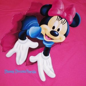 Disney Minnie Mouse 2 Sided Rip Through L